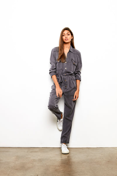 Golly Jumpsuit In Steel