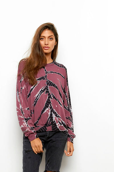 Coraline Sweatshirt in Soft Plum Frame Wash
