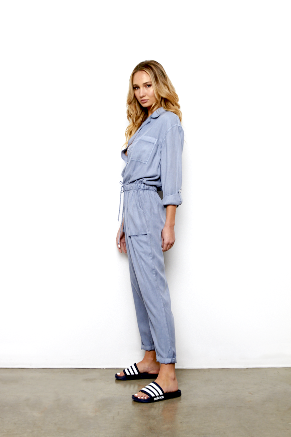 Lewis Jumpsuit In Steel Blue