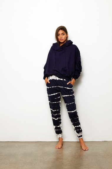 North Pant In Midnight Zebra wash - SAMPLE FINAL SALE