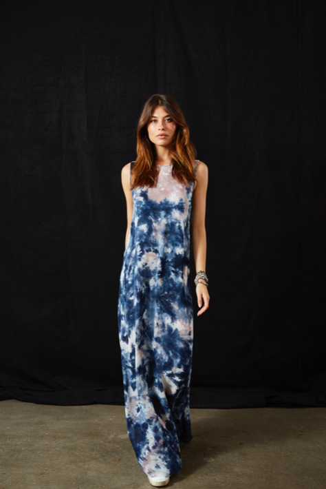 Jetter Dress In Midnight Canyon Wash