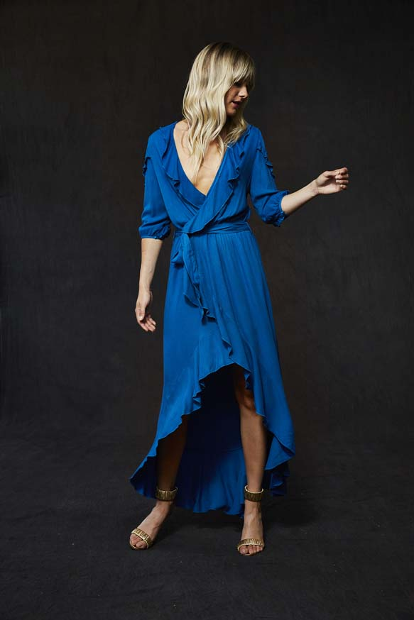 Sloan Dress In Peacock - Final Sale