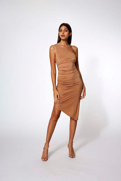 Beverly Dress in Tobacco - SAMPLE FINAL SALE