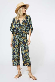 Beachbreaker Jumpsuit in India Ink Batik Floral