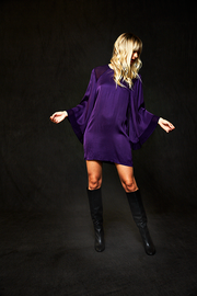 Miranda Dress In Electric Purple