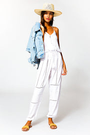 Woodstock Jumpsuit In White