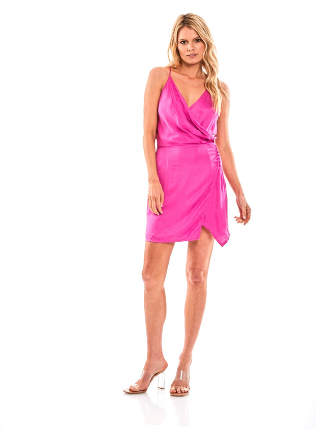 Jameson Mini Dress in Raspberry - SAMPLE FINAL SALE