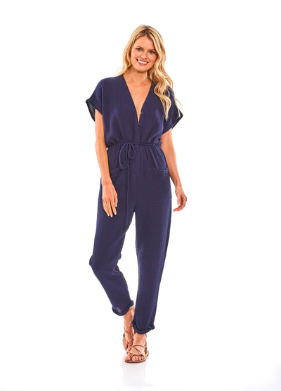 Lola Jumpsuit in Midnight - SAMPLE FINAL SALE