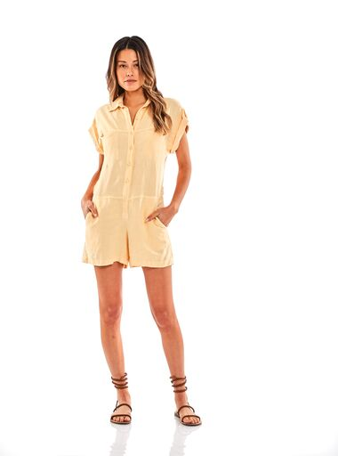 Reed Romper In Buttercup Pigment - SAMPLE FINAL SALE