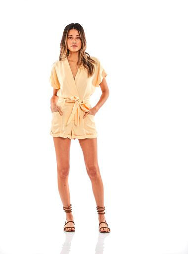 Axel Romper in Buttercup Pigment - SAMPLE FINAL SALE