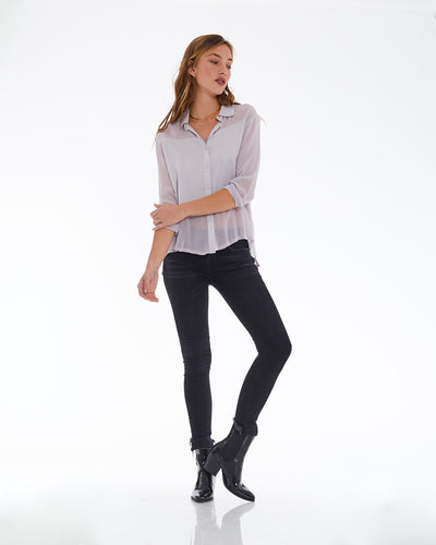 Joselyn Top in Grey Iris - SAMPLE FINAL SALE