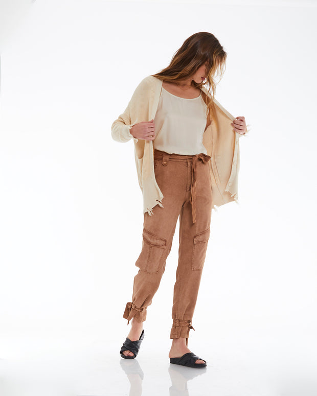 Dorian Pant in Toffee Pigment - SAMPLE FINAL SALE