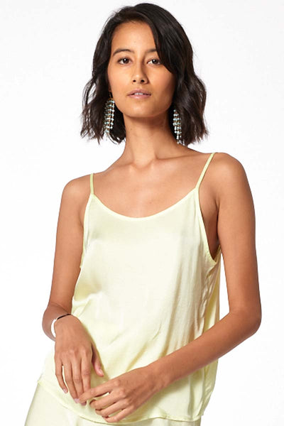 Amara Scoop Neck Cami // Soft Neon