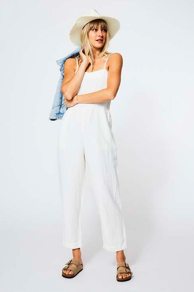 Annie Jumpsuit in Ivory Shell