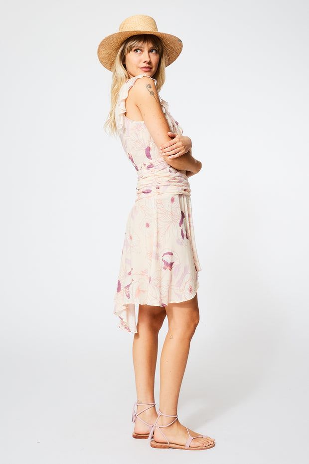 Russo Dress in Nude Garden Floral