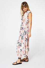 Lluvia Dress in Ivory Shell Garden Floral