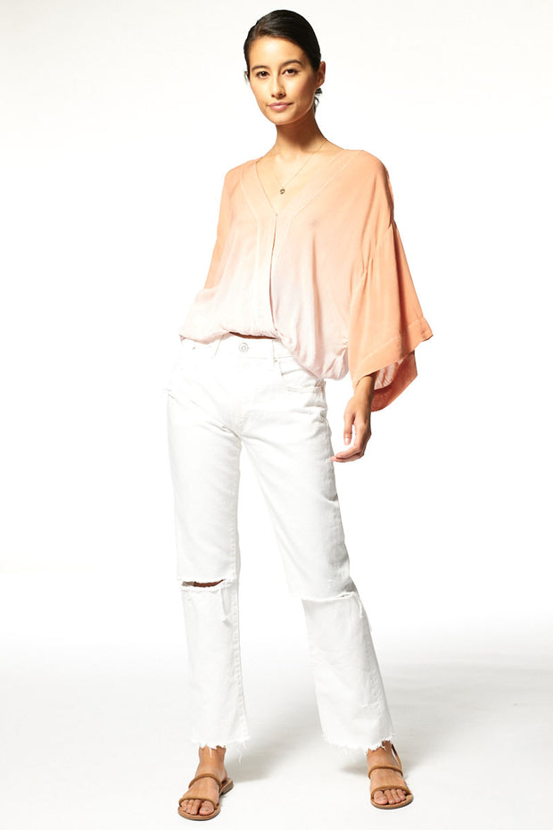 Tia Top // Pink Silver Ombre