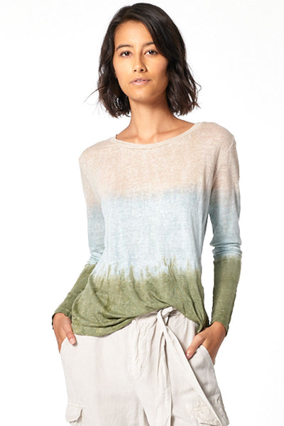Long Sleeve Twister Tee // Taupe Patina