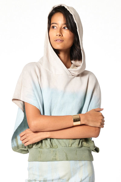 Carla Cut Off Hoodie // Taupe Patina