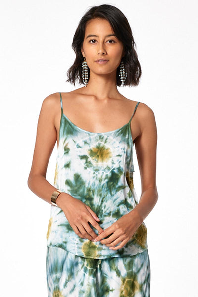 Amara Scoop Neck Cami // Winter Leaf Venus