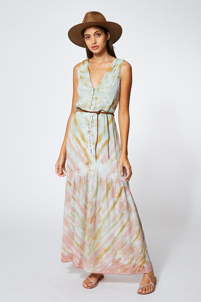 Raquel Dress In Water Austin Wash