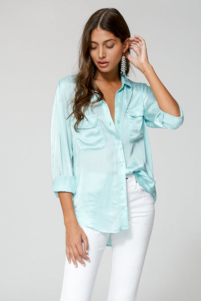 Belle Top In Aqua