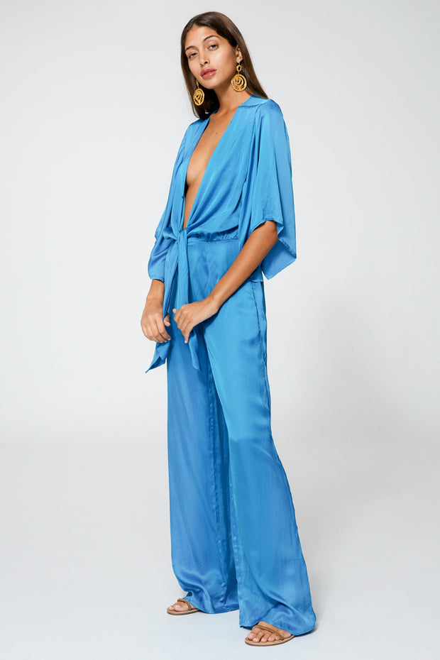 Breezy Jumpsuit In Bali Blue