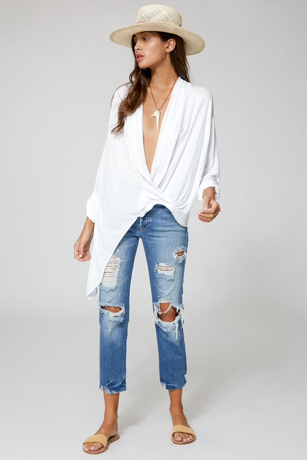 Corinne Blouse In White