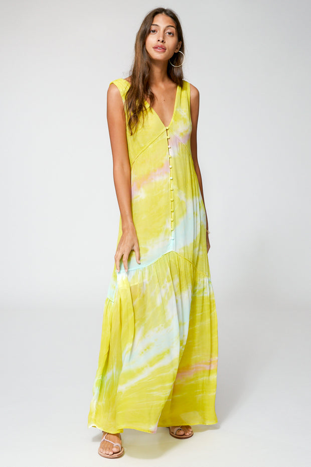 Raquel Dress In Zest Ripple Wash