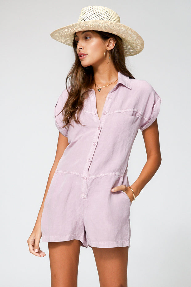 Reed Romper In Orchid