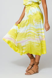 Savanna Skirt In Zest Ripple Wash