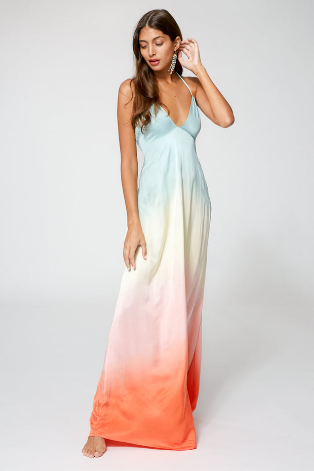 Stevie Dress In Tropic Ombre