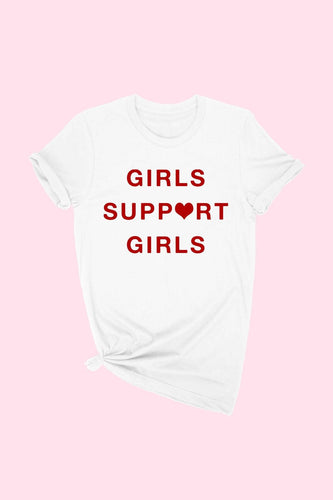 White-Girls Support Girls Tee
