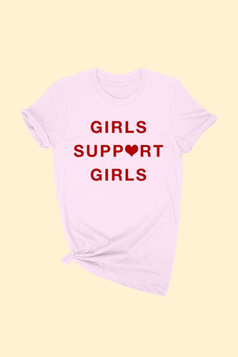 Pink-Girls Support Girls Tees
