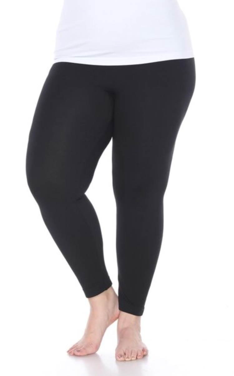 Plus OS Black Leggings