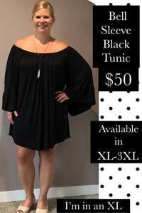 Bell Sleeve Off the Shoulder Tunic