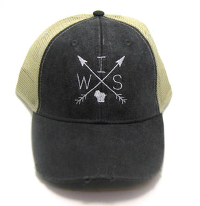 Wisconsin Distressed Hat - Arrows
