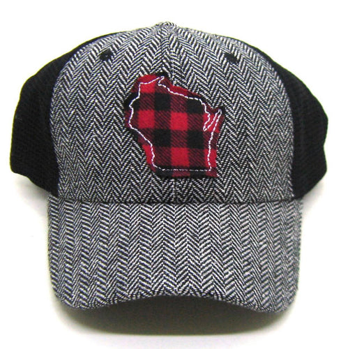 Wisconsin Buffalo Plaid & Herringbone Hat
