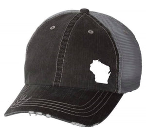 Wisconsin Distressed Hat