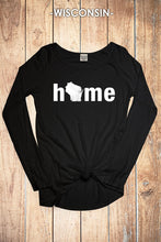 Wisconsin Solid Home Long Sleeve Top