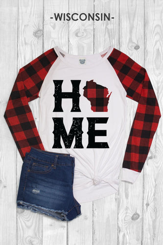 Wisconsin Home Buffalo Plaid Top