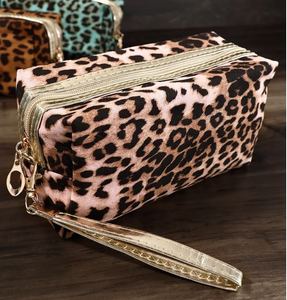 Pink Leopard Bag - Small