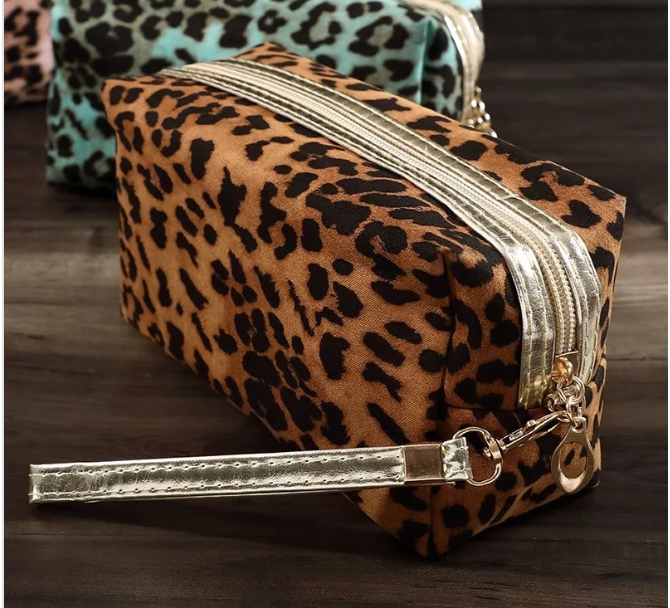 Brown Leopard Bag - Small