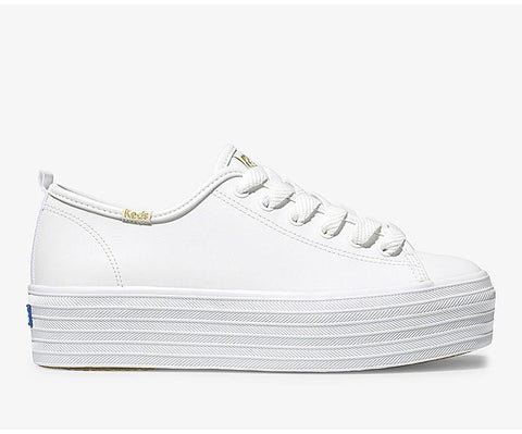 Triple Up Leather  | White