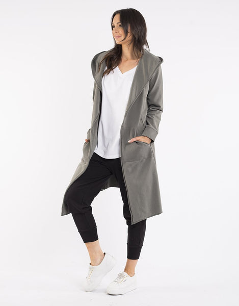 Naomi Hooded Cardigan | Khaki