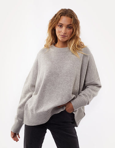 Slouchy Knit | Grey Marle