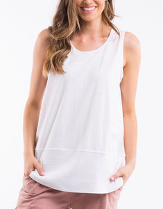 Fundamental Rib Tank | White