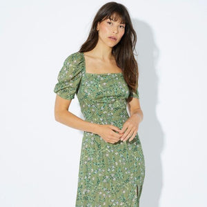 Dylan Square Neck Midi Dress