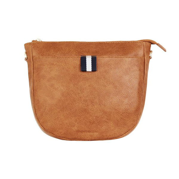New York Shoulder Bag | Tan Pebble