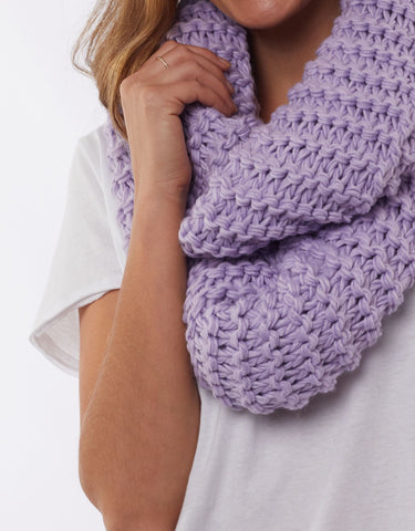 Organic Loop Scarf | Purple